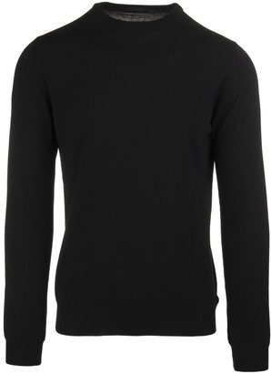 Zanone Black Worsted Wool Man Pullover
