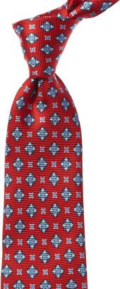 Kiton Red Floral Silk Tie