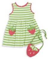 Florence Eiseman Toddler's & Little Girl's Striped Dress & Strawberry Purse Set