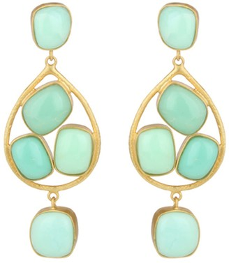 Carousel Jewels Chrysoprase & Gold Drop Earrings