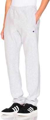 Champion Reverse Weave Elastic Cuff Pant in Grey | FWRD