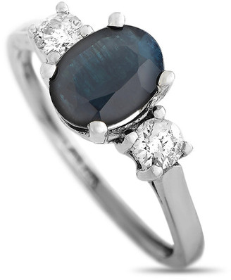 Non Branded Lb Exclusive 14K 0.20 Ct. Tw. Diamond & Sapphire Ring