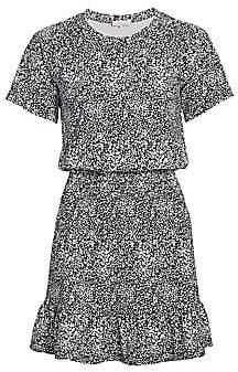 Parker Women's Burke Print Blouson Ruffle Dress