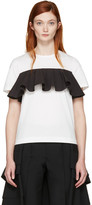 Edit White and Black Ruffle T-shirt