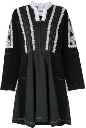 Koché ruffle neck dress