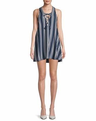 Show Me Your Mumu Women's Rancho Mirage Lace Up Tunic Dress