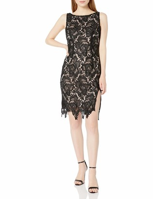 BB Dakota Women's Brinstow Midi Lace Dress with Contrast Lining