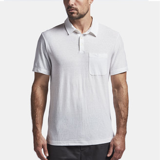 James Perse Cotton Linen Jersey Pocket Polo