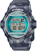 Baby-G Women's Digital Gray Resin Strap Watch 43x46mm BG169R-8B