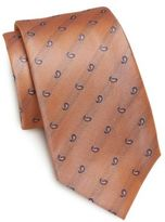 Saint Laurent Paisley Teardrop Silk Tie