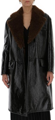Prada Buttoned Leather Coat