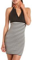 Charlotte Russe Striped Halter Body-Con Dress