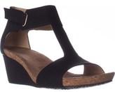 Adrienne Vittadini Trellis Comfrot Wedge Sandals, Black.
