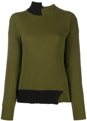 Marni Asymmetric High-Neck Sweater