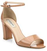 LK Bennett Helena Patent Leather Block-Heel Sandals