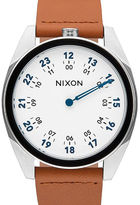 Nixon White and Brown Genesis Leather Watch