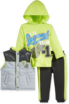 Nannette Baby Boys' 3-Pc. Vest, Hooded Basketball T-Shirt & Pants Set