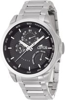 Lotus Men's Quartz Watch with Dial Analogue Display and Silver Stainless Steel Bracelet 15845/4