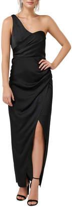 Forever New Camille Asymmetric One Shoulder Drape Maxi Dress