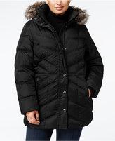 London Fog Plus Size Faux-Fur Hooded Puffer Coat