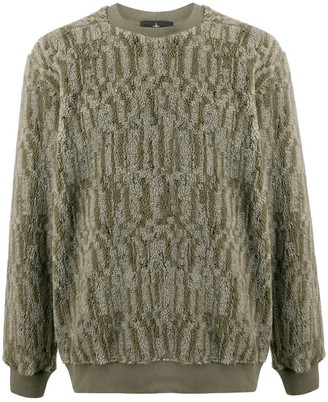 Stone Island Shadow Project Textured Furry Sweater