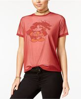 Disney Juniors' Mickey Mouse Mesh Overlay T-Shirt