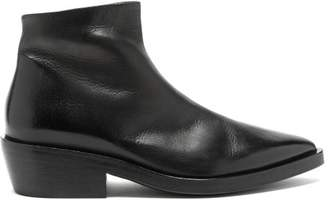 Marsèll Coneros Leather Ankle Boots - Mens - Black
