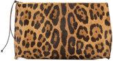 B May leopard print make up bag