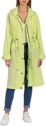 AVEC LES FILLES Unlined Oversized Rain Anorak