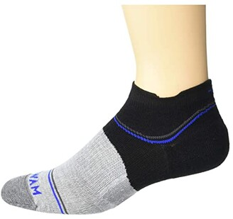 Wigwam Surpass Lightweight Low (Black/Grey) Crew Cut Socks Shoes