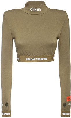 Heron Preston Ctnmb Cropped Jersey Top