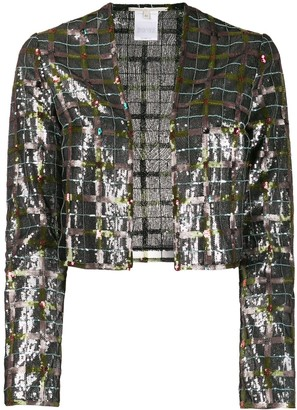 Marco De Vincenzo Embroidered Check Jacket