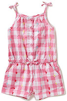 Little Me Baby Girls 12-24 Months Gingham Button-Down Romper