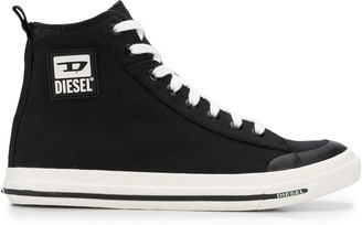 Diesel D logo print sneakers
