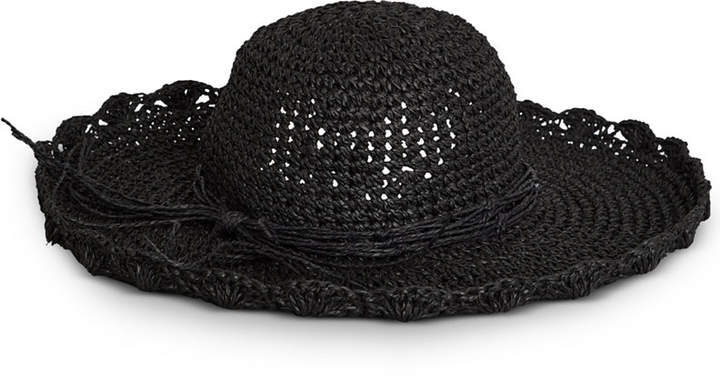 BCBGeneration Straw Floppy Hat