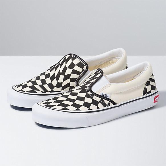 checkered slip on vans sale