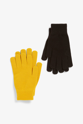 Monki Two-pack of knitted gloves