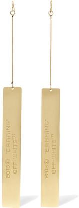 Engraved Gold-tone Earrings