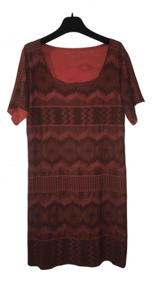 Pleats Please Brown Synthetic Dresses
