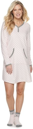 Croft & Barrow Women's Sleepshirt Set with Sock