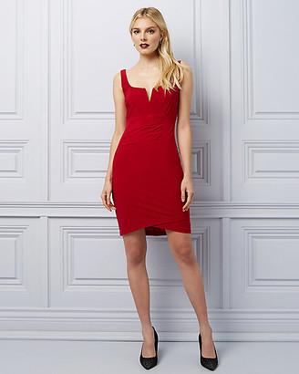Le Château Knit Pleated Mini Dress