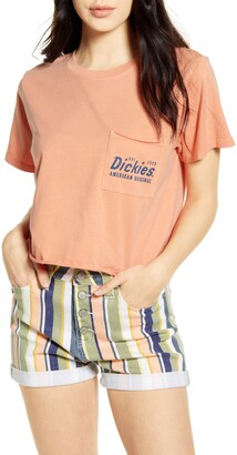 Dickies Pigment Wash Crop Graphic Tee