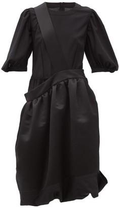 Comme des Garçons Comme des Garçons Asymmetric Bubble-hem Satin Dress - Black
