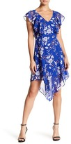 Jessica Simpson V-Neck Floral Print Flutter Dress
