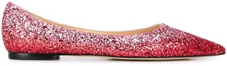 Jimmy Choo Love glitter ballerina shoes