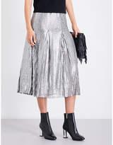 Maje Jaly sequinned midi skirt