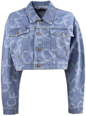 Chiara Ferragni Cropped Blue Denim Jacket