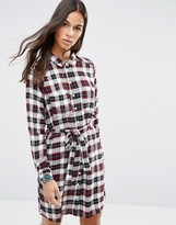 Brave Soul Check Shirt Dress