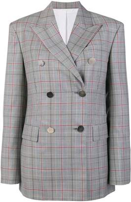 Calvin Klein checked double breasted jacket