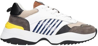 DSQUARED2 D24 Sneakers In White Leather